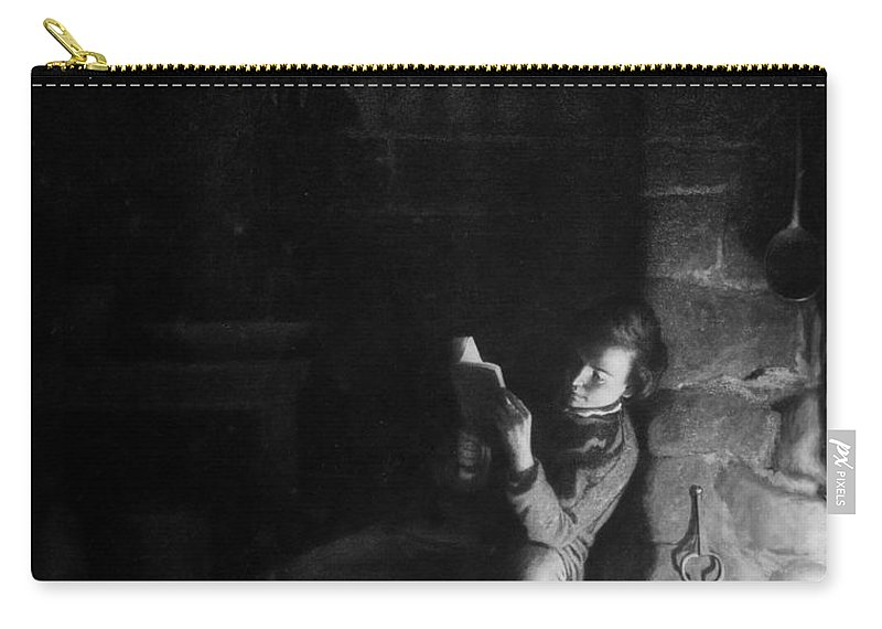 19th Century Carry-all Pouch featuring the painting The Boyhood Of Lincoln by Granger