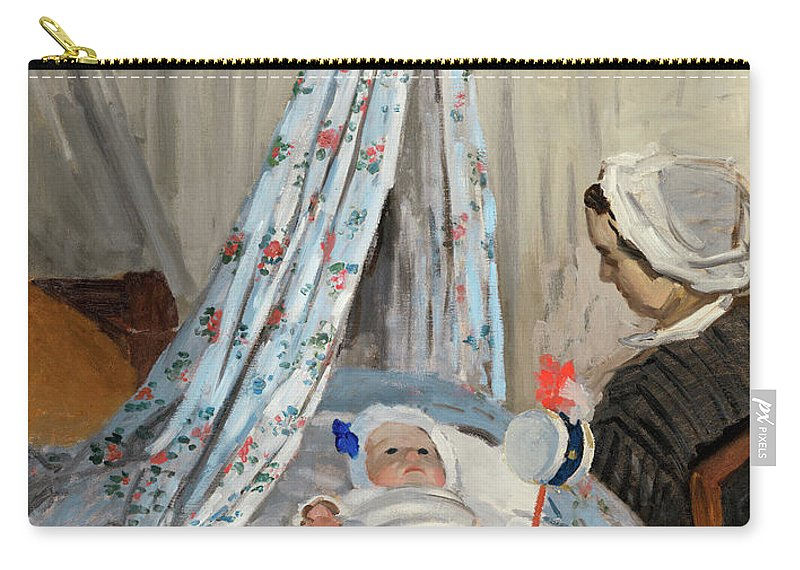 The Cradle Carry-all Pouch featuring the painting The Cradle - Camille With The Artist's Son Jean by Claude Monet