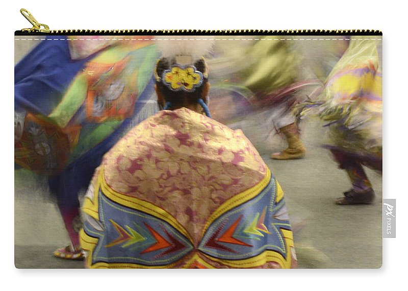 Pow Wow Carry-all Pouch featuring the photograph Pow Wow The Dance 4 by Bob Christopher