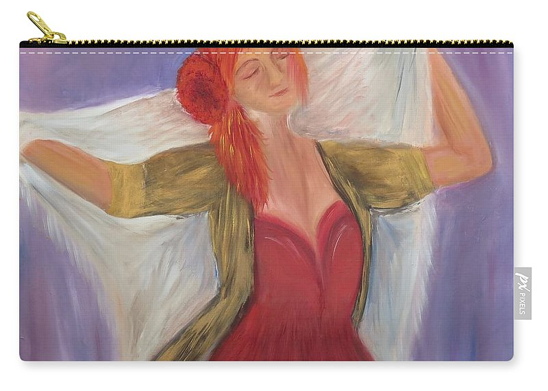 Dance Carry-all Pouch featuring the painting The Dancer by Taly Bar