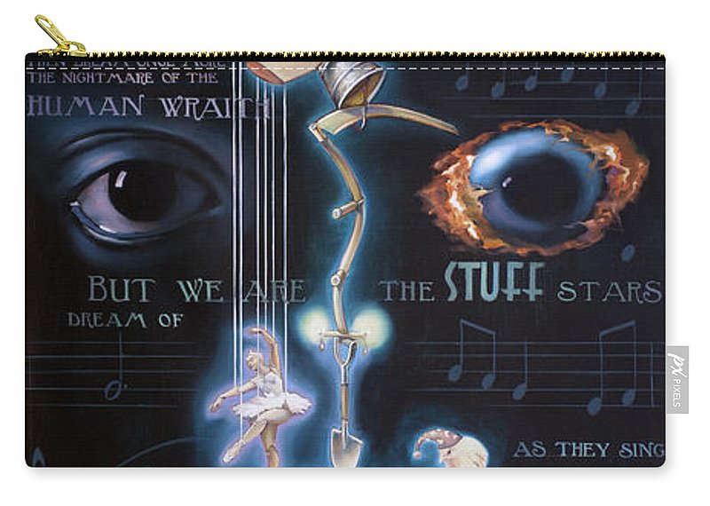 Chicken Carry-all Pouch featuring the painting The Danse Macabre by Patrick Anthony Pierson