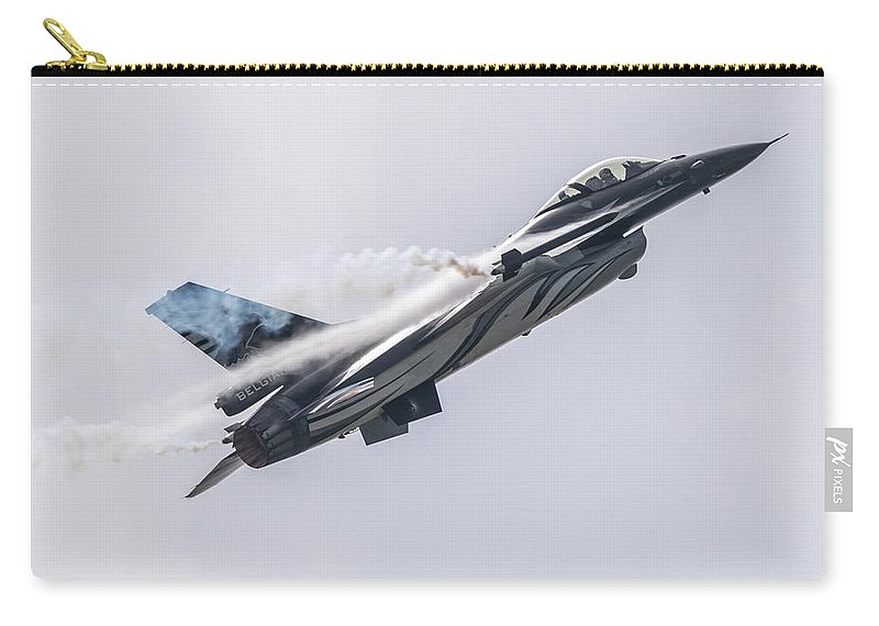 Air Show Carry-all Pouch featuring the digital art The Dark Falcon by J Biggadike
