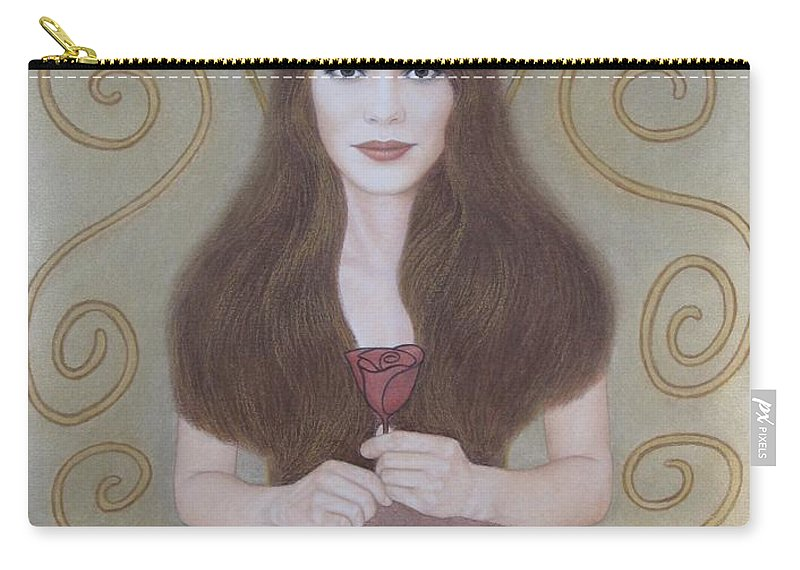 Dream Carry-all Pouch featuring the painting The Dream by Lynet McDonald