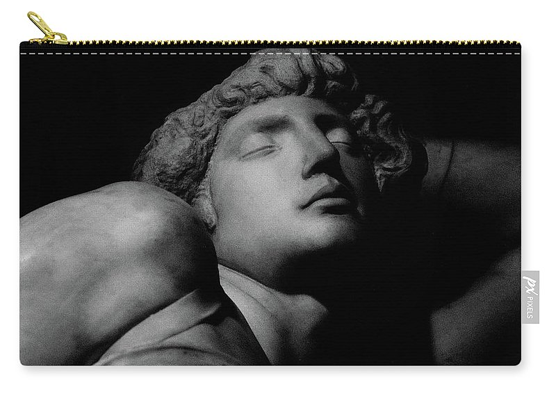 The Dying Slave Carry-all Pouch featuring the photograph The Dying Slave by Michelangelo Buonarroti