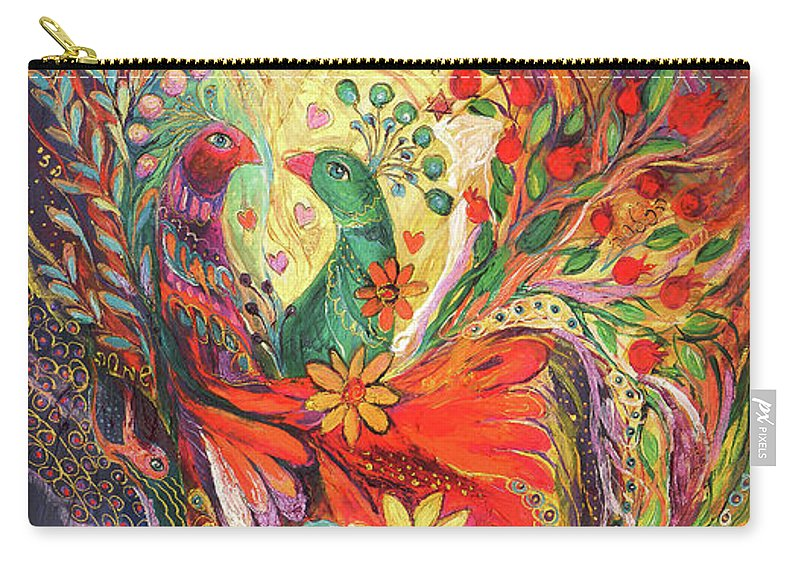 Original Carry-all Pouch featuring the painting The Flowers And Fruits by Elena Kotliarker