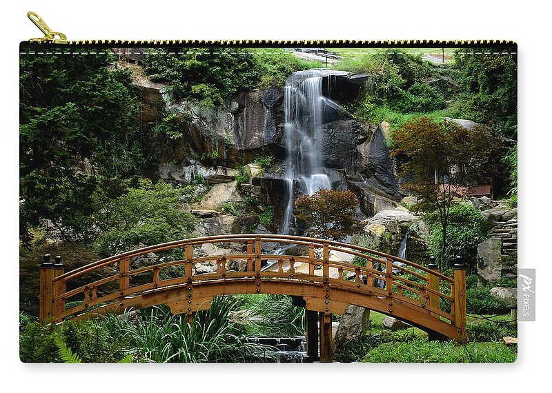 Ann Keisling Carry-all Pouch featuring the photograph The Garden Bridge by Ann Keisling