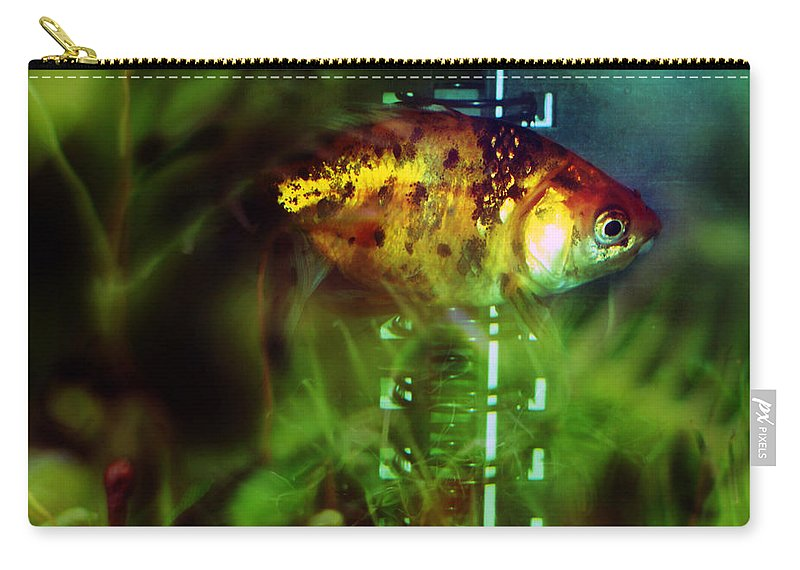 Fish Carry-all Pouch featuring the photograph The Goldfish by Angel Ciesniarska