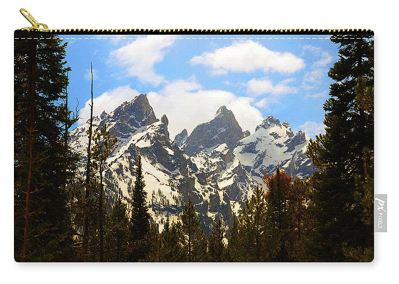 Photography Carry-all Pouch featuring the photograph The Grand Tetons by Susanne Van Hulst