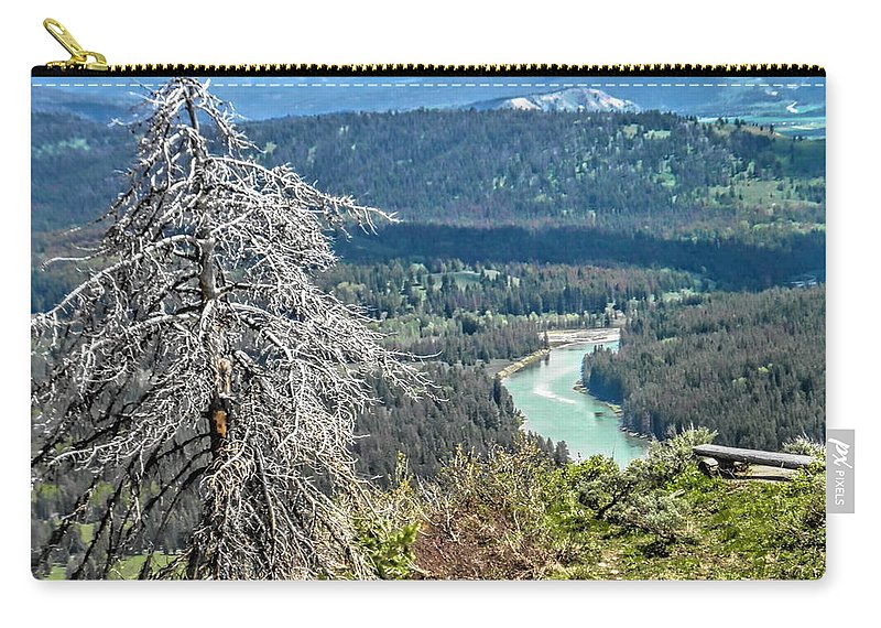 The Grande Tetons Carry-all Pouch featuring the photograph The Grande Tetons by Betsy Cullen