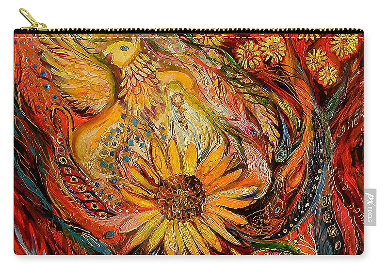 Original Carry-all Pouch featuring the painting The Griffin Kingdom by Elena Kotliarker