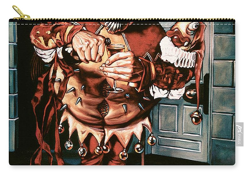 Jester Carry-all Pouch featuring the painting The Jesterook by Patrick Anthony Pierson