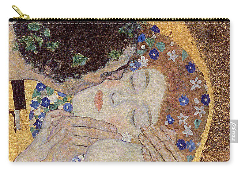 Klimt Carry-all Pouch featuring the painting The Kiss by Gustav Klimt