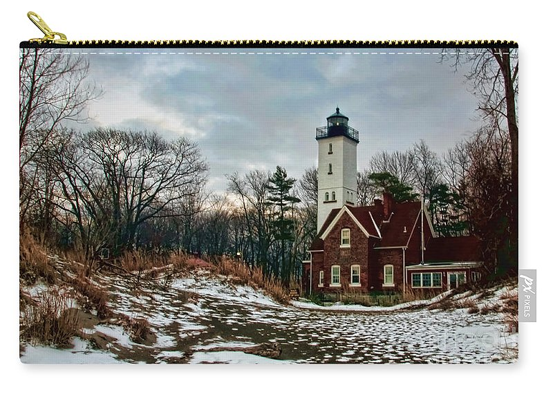 Lighthouse Carry-all Pouch featuring the photograph The Lighthouse by Gaby Swanson