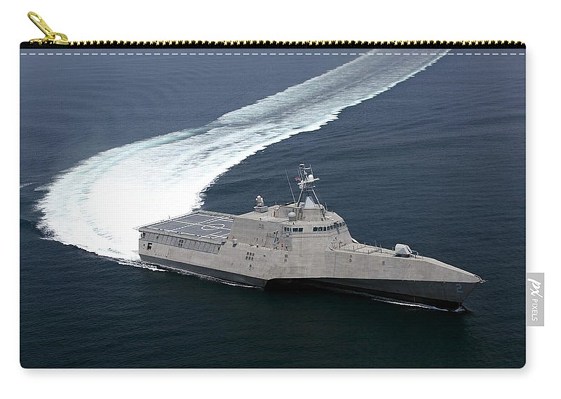 Trials Carry-all Pouch featuring the photograph The Littoral Combat Ship Independence by Stocktrek Images