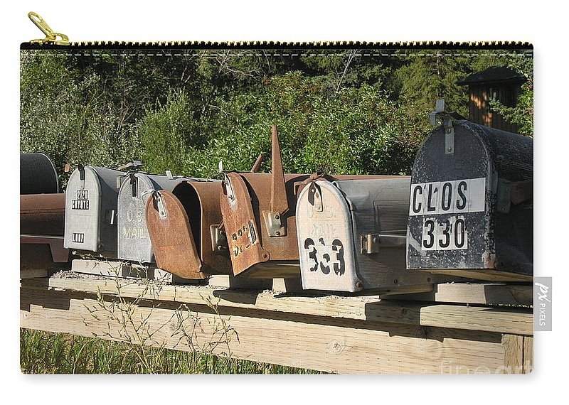 Mail Boxes Carry-all Pouch featuring the photograph The Long Wait by Diane Greco-Lesser