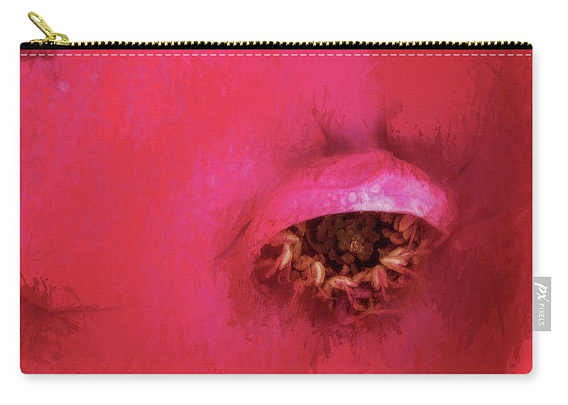 Abstract Carry-all Pouch featuring the photograph The Look by David Kay