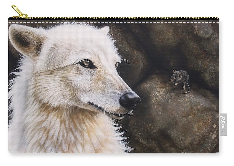 Acrylic Carry-all Pouch featuring the painting The Mouse by Sandi Baker