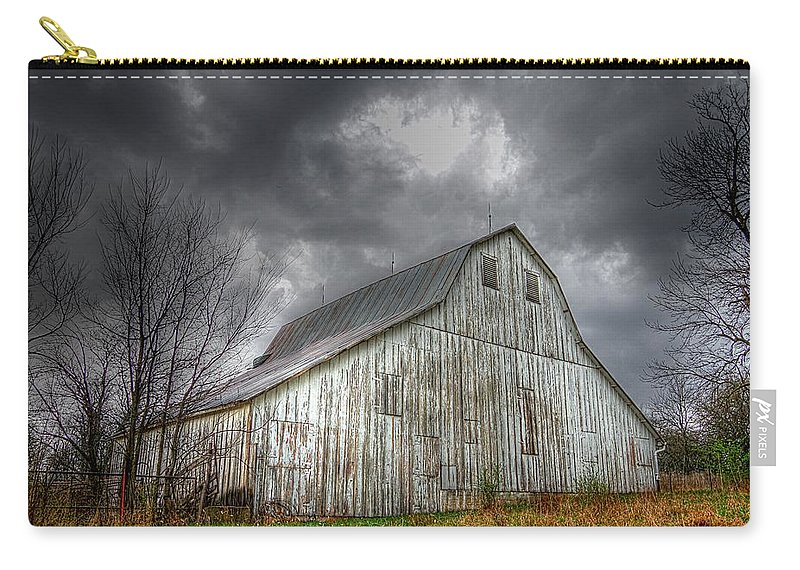 Old Barn Carry-all Pouch featuring the photograph The Old Barn by Karen McKenzie McAdoo