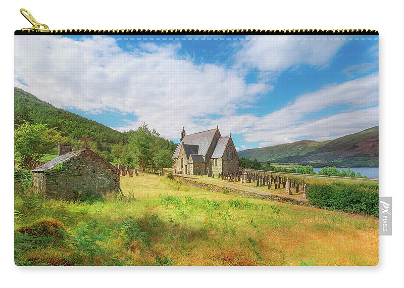 Ballichulish Church Carry-all Pouch featuring the photograph The Old Highland Church by Roy McPeak