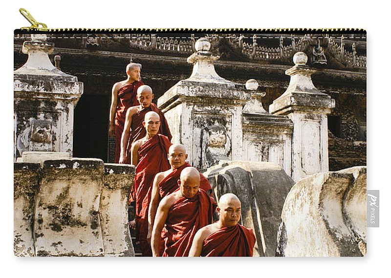 Myanmar Carry-all Pouch featuring the photograph The Old Monastery by Michele Burgess