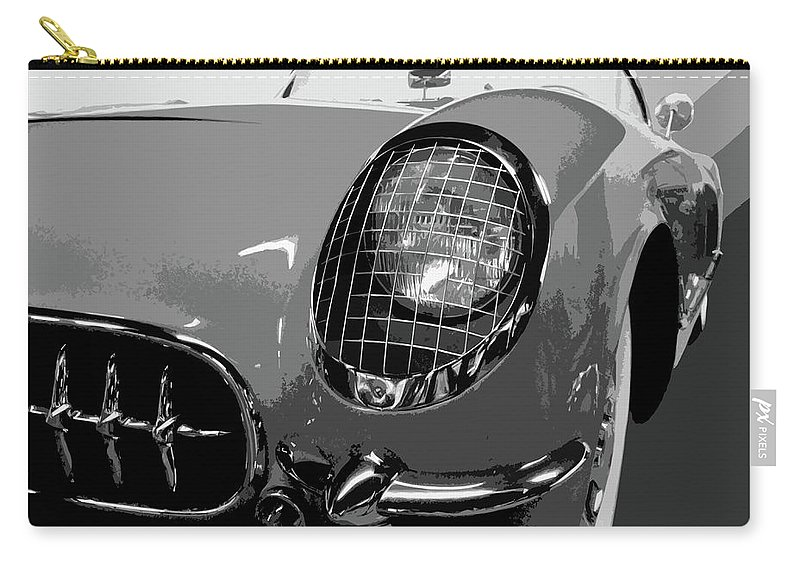 Autos Carry-all Pouch featuring the photograph The Original Vette by Dick Goodman