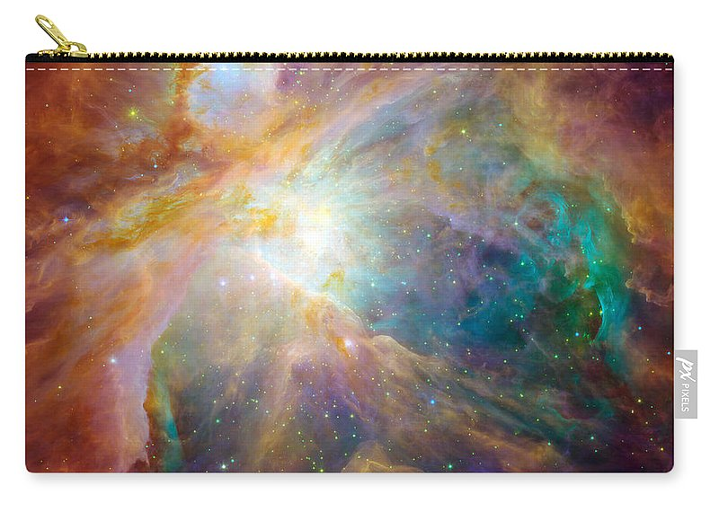 Square Image Carry-all Pouch featuring the photograph The Orion Nebula by Stocktrek Images