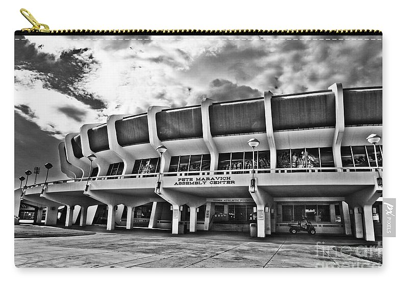 Lsu Carry-all Pouch featuring the photograph The P Mac - Bw by Scott Pellegrin