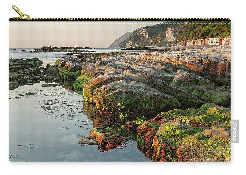 Passetto Carry-all Pouch featuring the photograph The Passetto Rocks At Sunrise, Ancona, Italy by Luigi Morbidelli