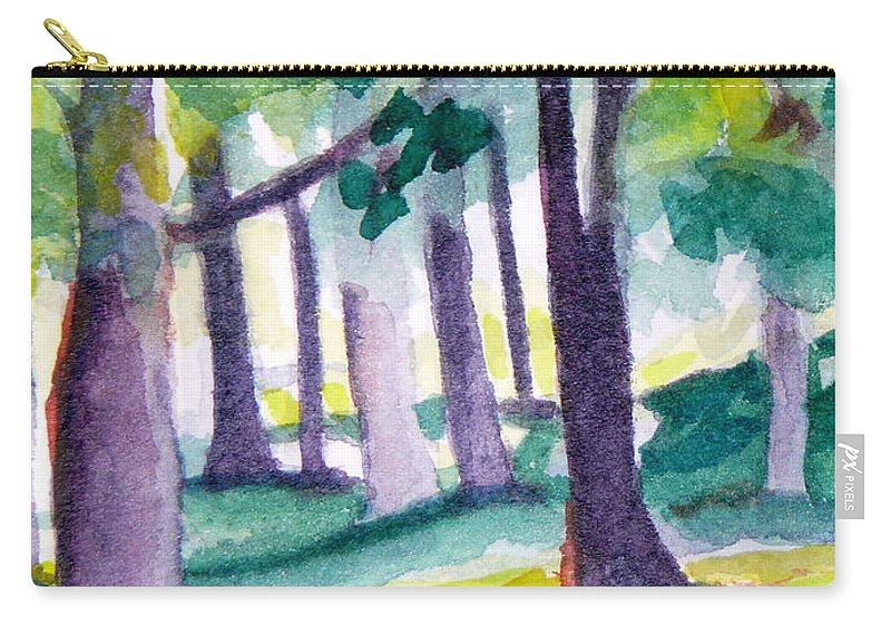 Nature Carry-all Pouch featuring the painting The Perfect Day by Jan Bennicoff