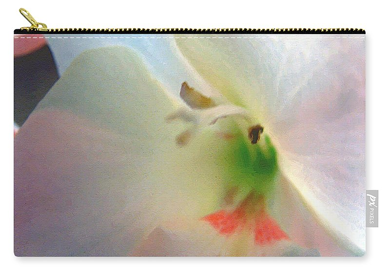 Blue Carry-all Pouch featuring the digital art The Persistence Of Romance by RC DeWinter