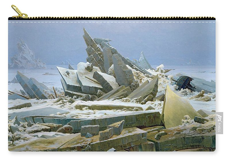 The Carry-all Pouch featuring the painting The Polar Sea by Caspar David Friedrich