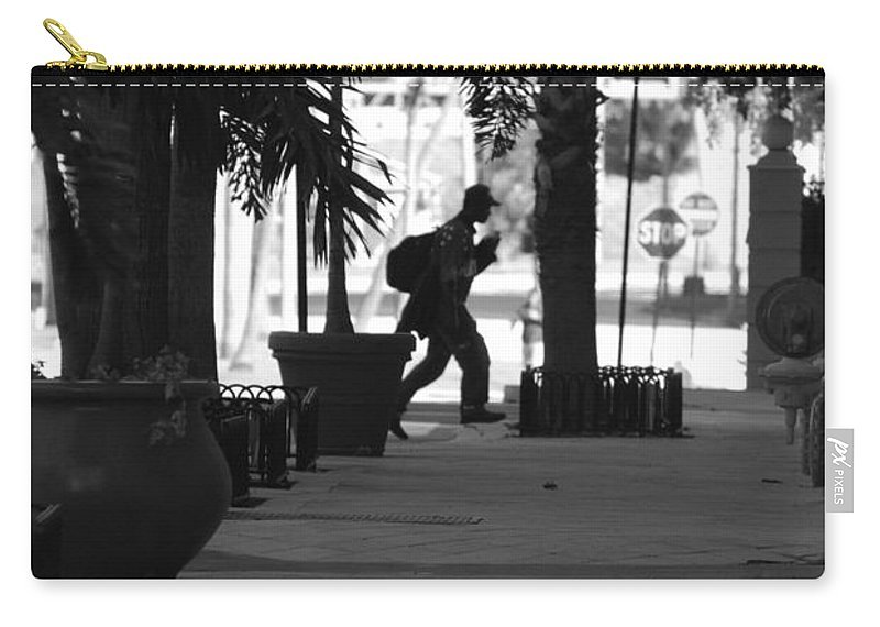 Street Scene Carry-all Pouch featuring the photograph The Post Man by Rob Hans