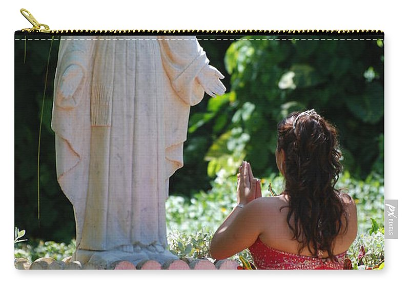 Portrait Carry-all Pouch featuring the photograph The Praying Princess by Rob Hans