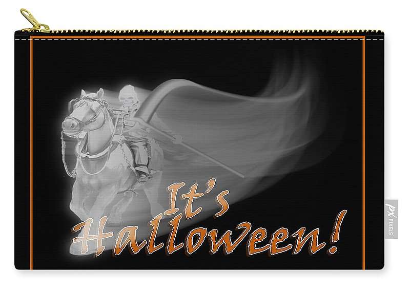 Halloween Carry-all Pouch featuring the mixed media The Reaper Rides Again by Gravityx9 Designs