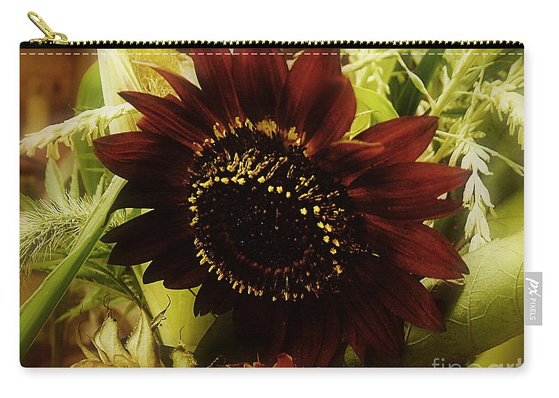 Sunflower Carry-all Pouch featuring the photograph The Softness Of Autumn by RC DeWinter