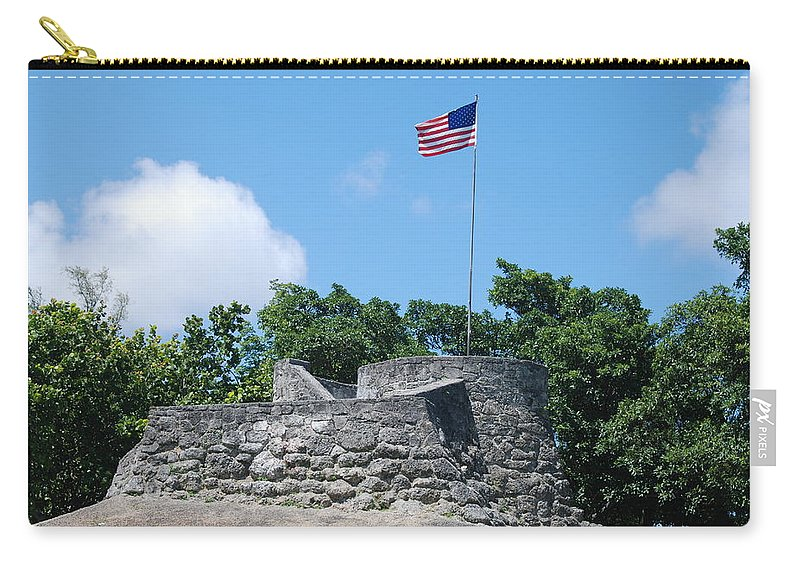American Flag Carry-all Pouch featuring the photograph The Stand by Rob Hans