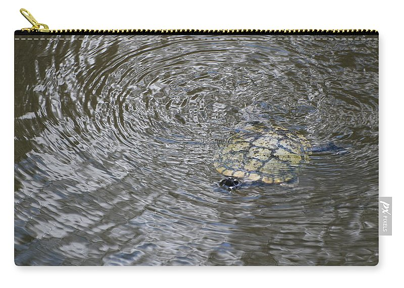 Water Carry-all Pouch featuring the photograph The Swimming Turtle by Rob Hans