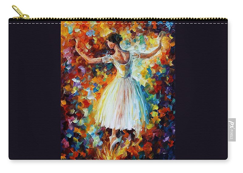 Afremov Carry-all Pouch featuring the painting The Symphony Of Dance by Leonid Afremov