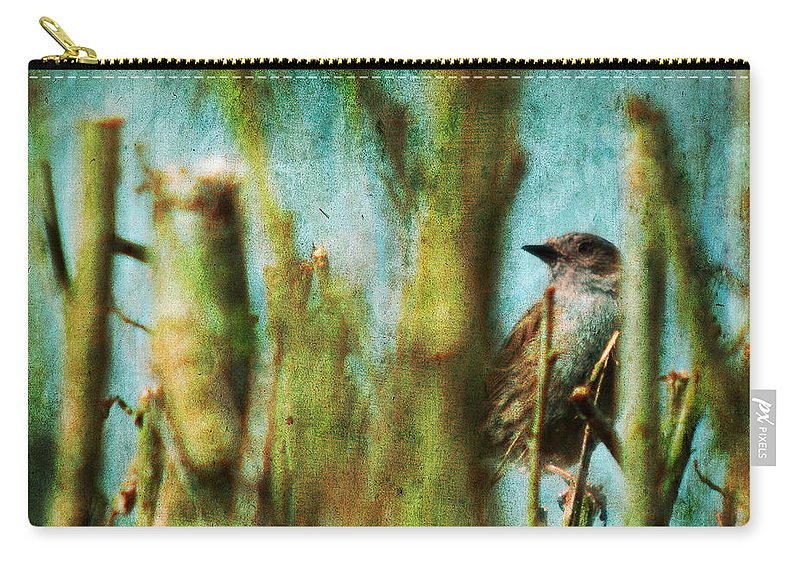 Thrush Carry-all Pouch featuring the photograph The Thrush by Angel Ciesniarska