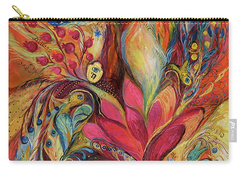 Original Carry-all Pouch featuring the painting The Tree Of Life by Elena Kotliarker