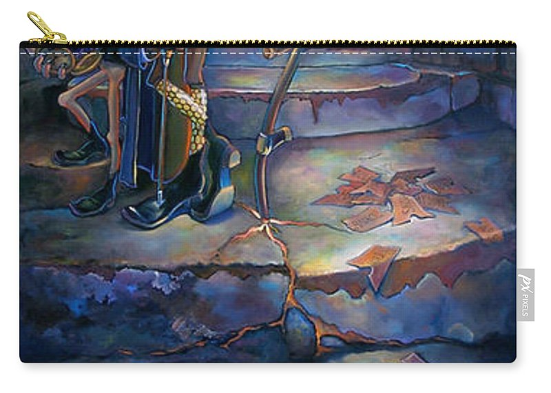 Mermaid Carry-all Pouch featuring the painting The Wheel Of Tempus Q. Fugit by Patrick Anthony Pierson