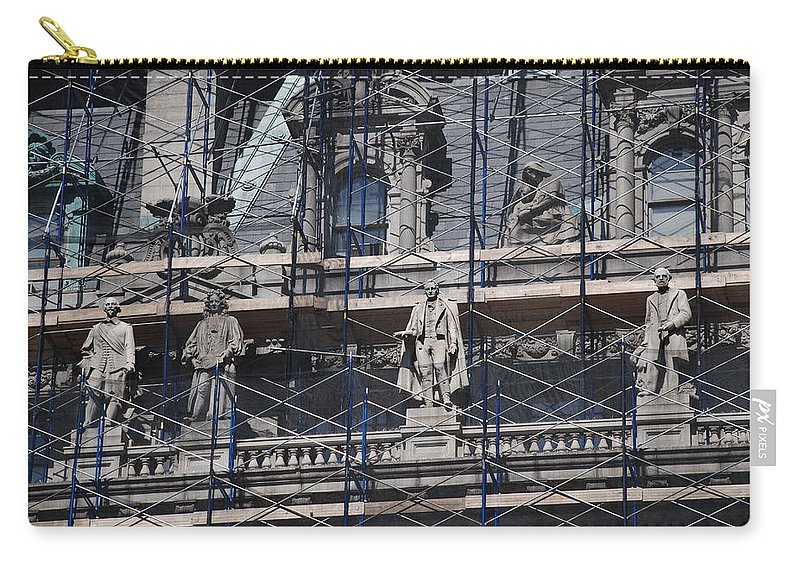 Street Scene Carry-all Pouch featuring the photograph The Wiseguys by Rob Hans