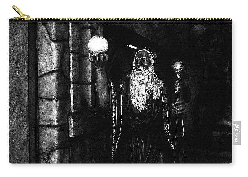 Olympus35sp / Neopanacros100 Carry-all Pouch featuring the photograph The Wizard by Andre Thibault