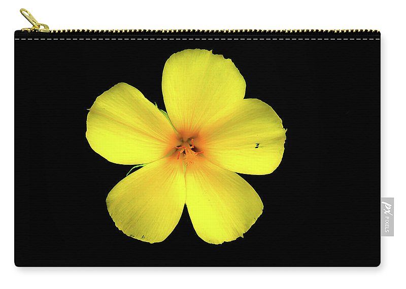 Petal Carry-all Pouch featuring the photograph The Yellow Flower by Mao Lopez
