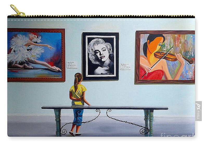 Dancing Carry-all Pouch featuring the painting I want to be by Jose Manuel Abraham