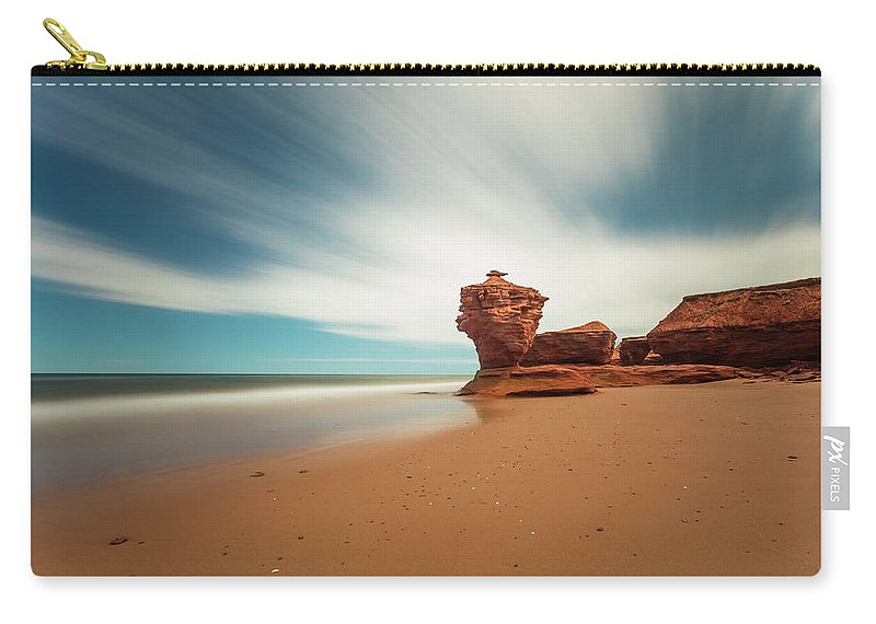 Island Carry-all Pouch featuring the photograph Thunder Cove Sea Arch And Flowerpot Rock by Darlene Munro