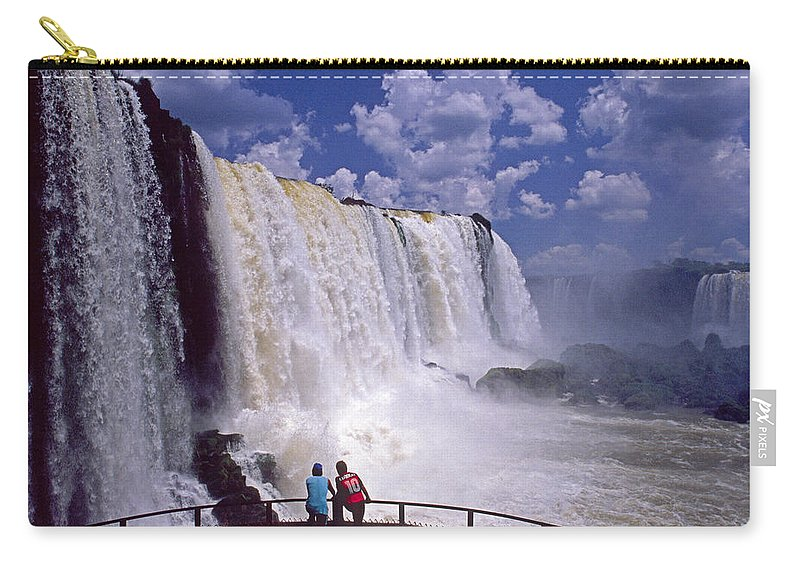 South America Carry-all Pouch featuring the photograph Thundering Water by Michele Burgess