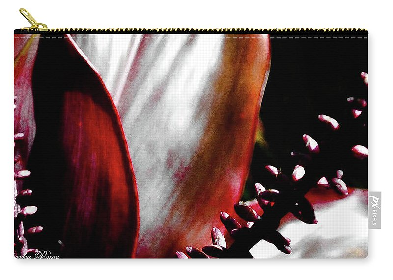 Flower Carry-all Pouch featuring the photograph Ti Leaves by Corky Byer
