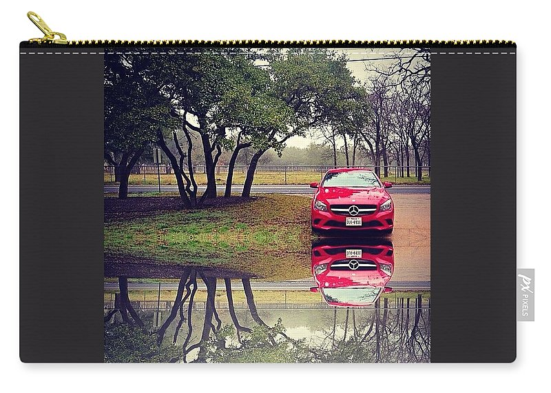 Caroftheday Carry-all Pouch featuring the photograph Time For #reflection. #mbfanphoto by Austin Tuxedo Cat