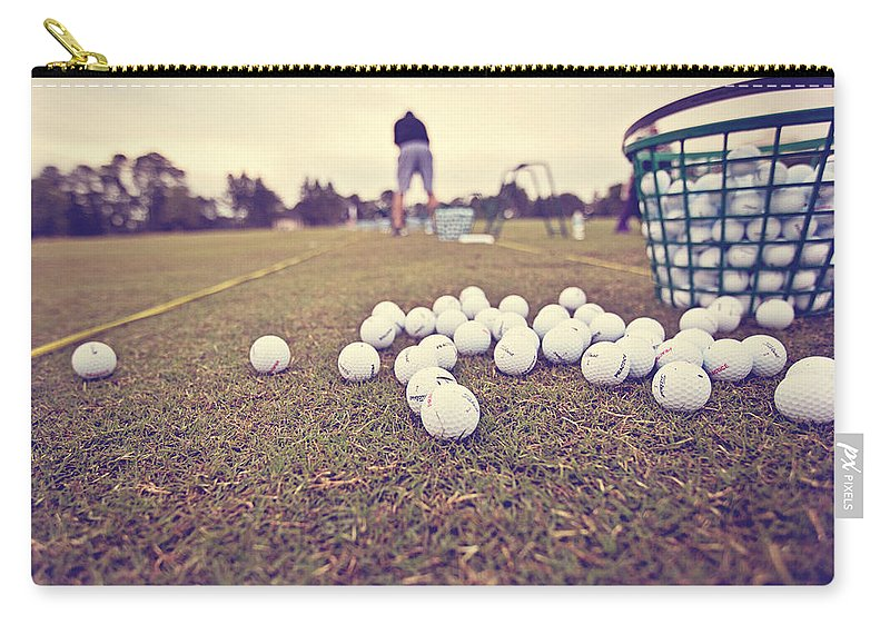 Golf Carry-all Pouch featuring the photograph Time On The Range by Scott Pellegrin